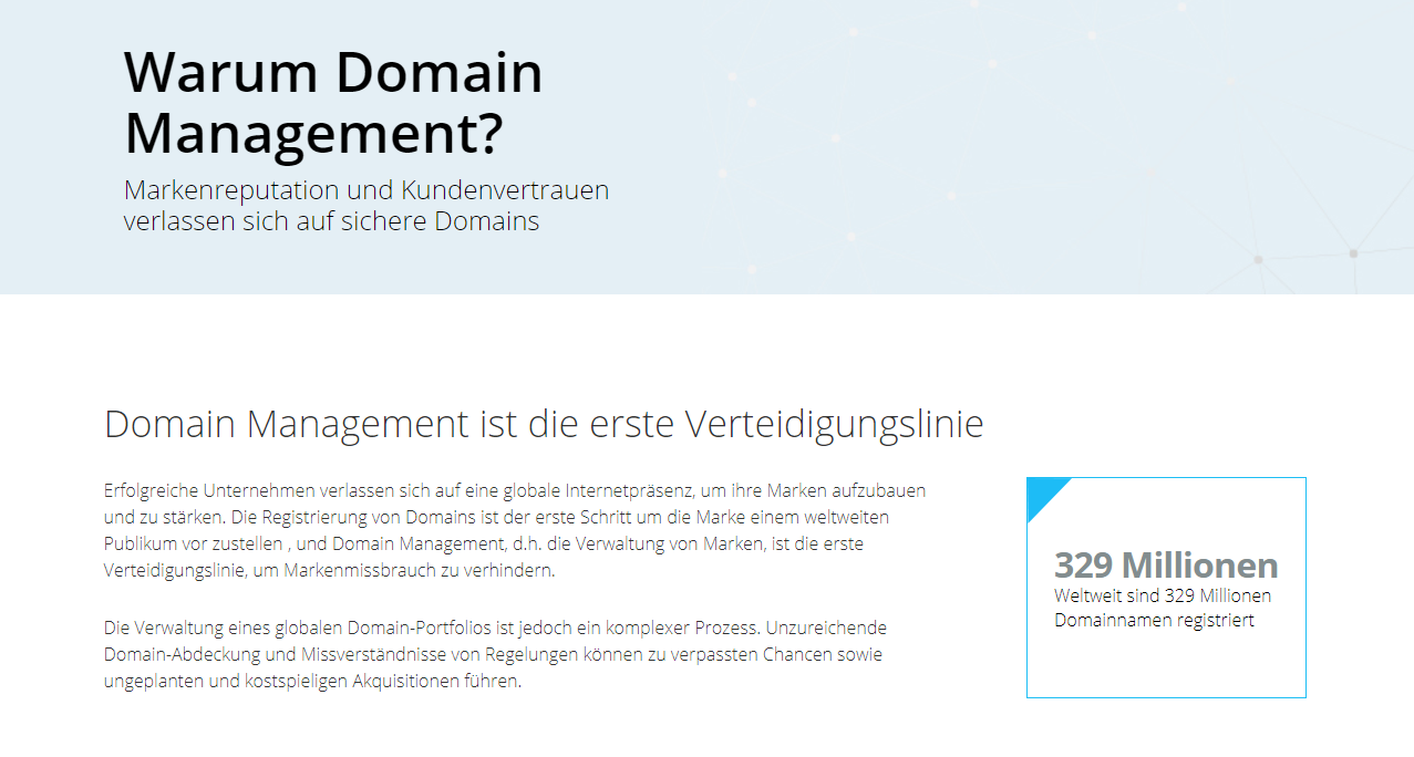 mark-monitor-domain-management-page