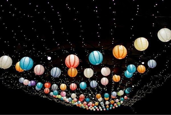multi-colored-lanterns-at-night